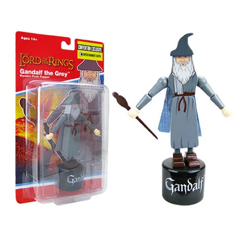 The Lord of the Rings: Fellowship of the Ring Gandalf the Grey Wooden Push Puppet - Convention Exclusive