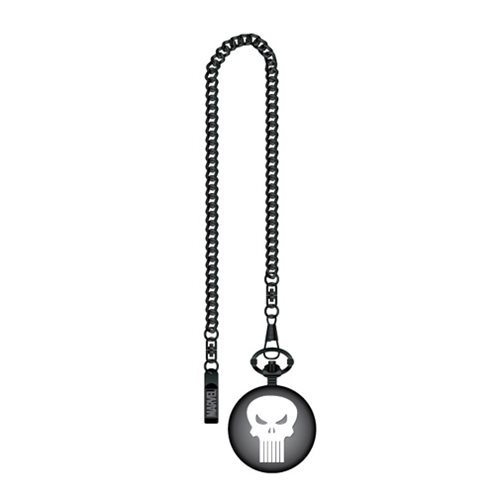 Punisher Skull Logo Gunmetal Pocket Watch