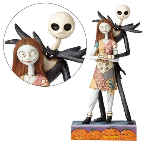 Disney Traditions Nightmare Before Christmas Jack and Sally Fated Romance Statue by Jim Shore