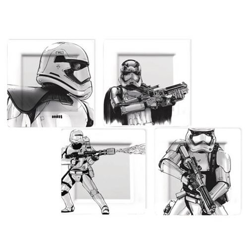 Star Wars: The Force Awakens Captain Phasma and Stormtrooper Plate Set