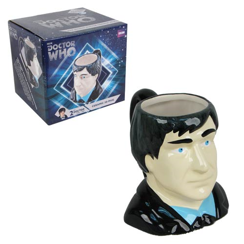 Doctor Who Second Doctor Bust Figural Mug