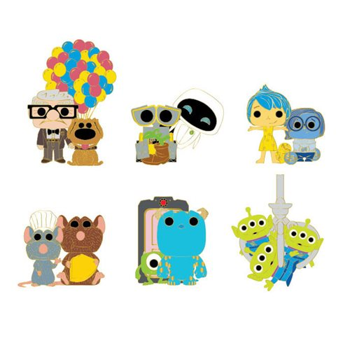 Pixar Random Blind-Box Pop! by Loungefly Enamel Pin 12-Piece Display Tray