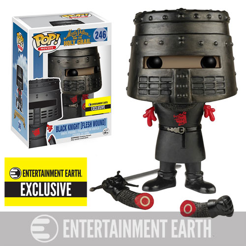 Monty Python and the Holy Grail Flesh Wound Black Knight Pop! Vinyl Figure - Entertainment Earth Exclusive