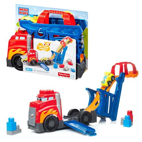 Mega Bloks First Builders Fast Tracks Racing Rig Playset