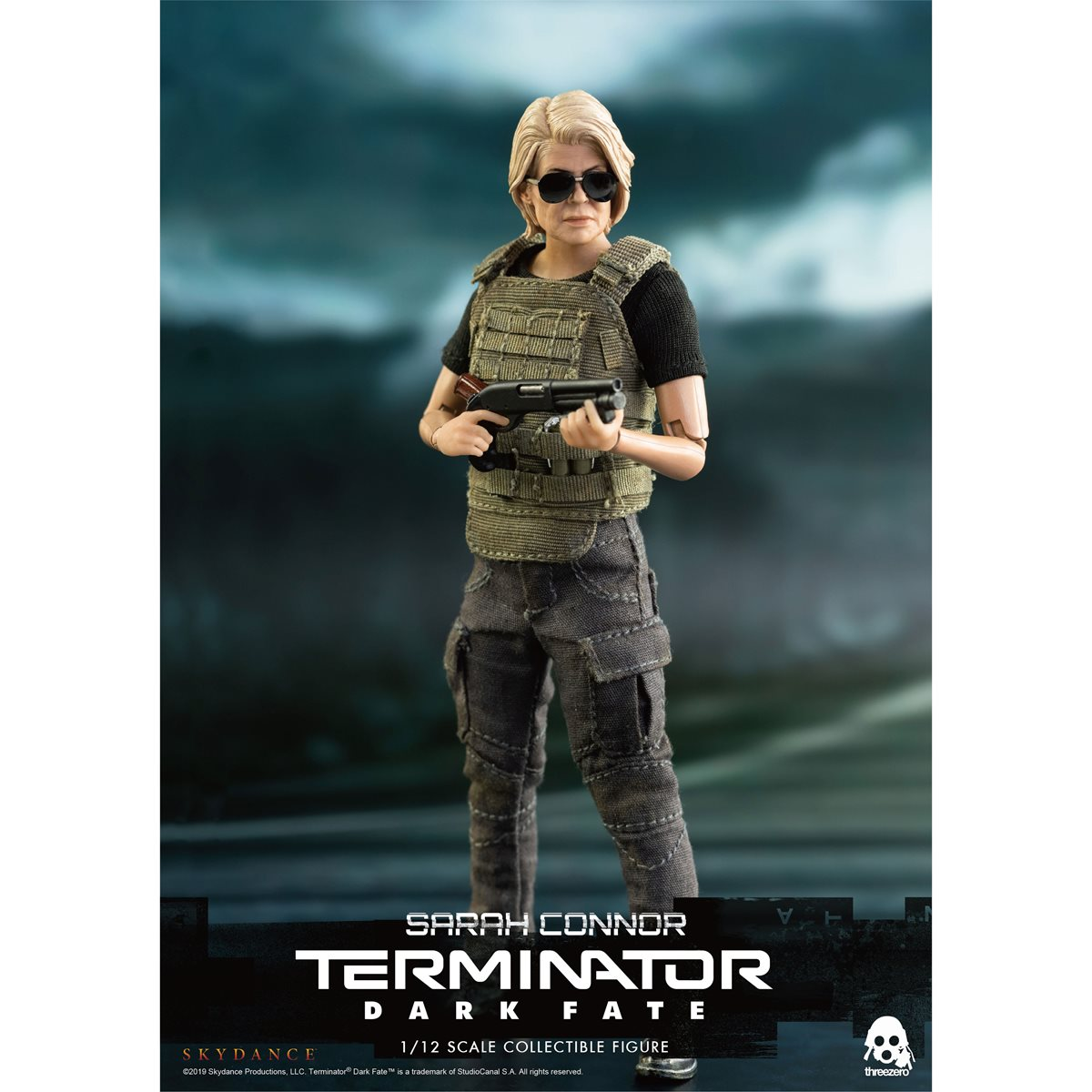 1//6 Scale Toy TERMINATOR 2 sarah connor-Noir Veste Tactique