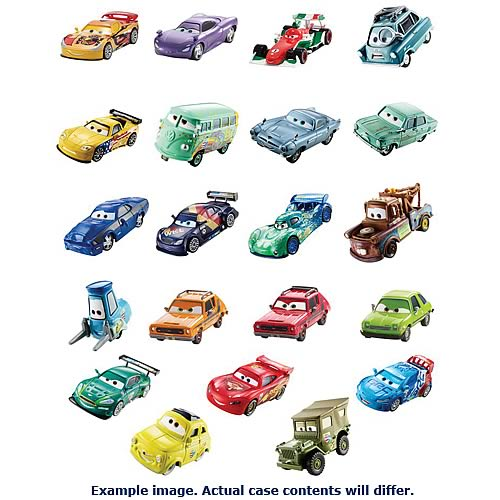 Cars 2 Character Die-Cast Vehicles Wave 6 Case