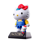 Hello Kitty Blue Stripe Version Chogokin Die-Cast Metal Action Figure, Not Mint