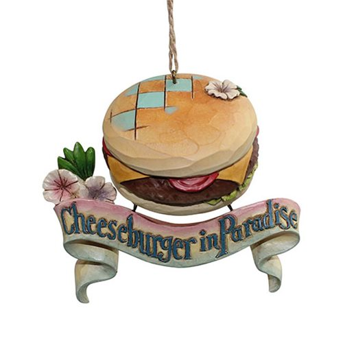 Margaritaville Cheeseburger Paradise Heartwood Creek Ornament by Jim Shore