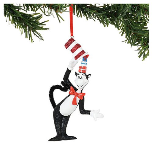 Dr. Seuss Cat in the Hat Hat Full of Gifts Ornament