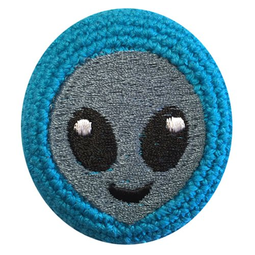 Emoji Alien Head Crocheted Footbag