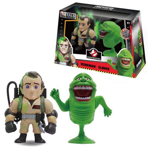 Ghostbusters Venkman and Slimer Metals Die-Cast Figure 2-Pack