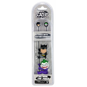 Batman and Joker 2-Inch Scalers Ear Bud Headphones