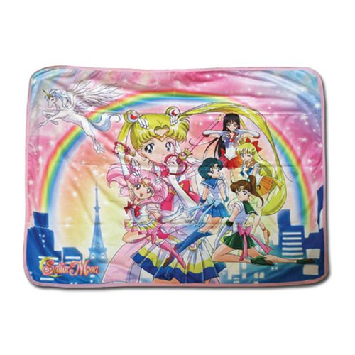 Sailor Moon Super Sailor Moon Group Sublimation Throw Blanket