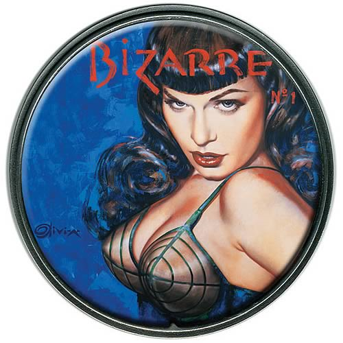 Bettie Page by Olivia Bizarre Belt Buckle
