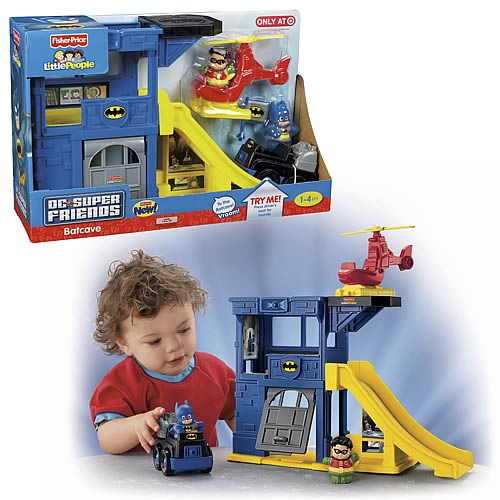 Batman Little People Super Friends Batcave Playset