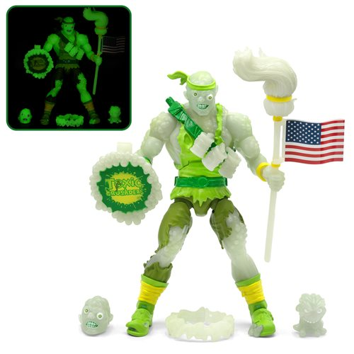 Toxic Crusaders Glow in the Dark Toxie Deluxe 6-Inch Action Figure - Entertainment Earth Exclusive