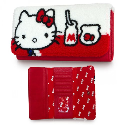 Hello Kitty Milk and Fish Bowl Trifold Wallet