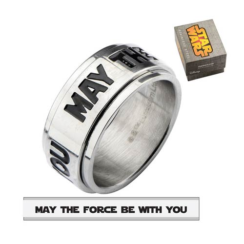 Star Wars May The Force Spinner Ring