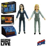 Saturday Night Live Weekend Update Tina Fey and Amy Poehler 3 1/2-Inch Action Figures Set of 2, Not Mint