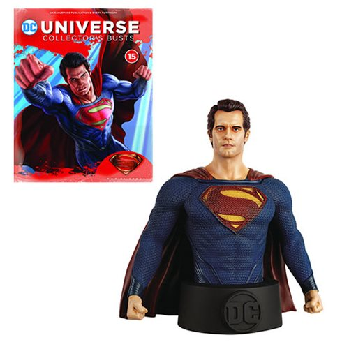 DC Universe Man of Steel Movie Superman Bust with Collector Magazine #15