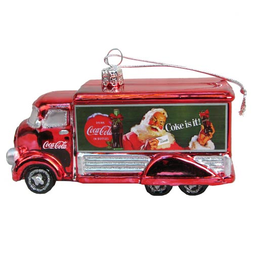 Coca-Cola Truck 5-Inch Glass Holiday Ornament