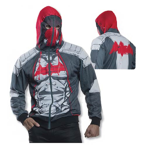 Batman Arkham Knight Red Hood Zip-Up Hooded Costume