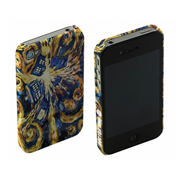 Doctor Who Van Gogh Exploding TARDIS iPhone 4 Case