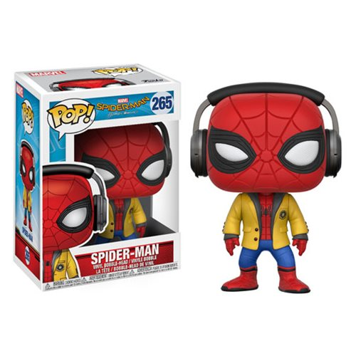 Spider-Man: Homecoming Spider-Man with Headphones Pop! Vinyl Bobble Head #265