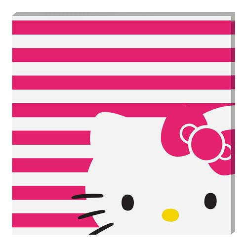 Hello Kitty Small Stretched Canvas Print