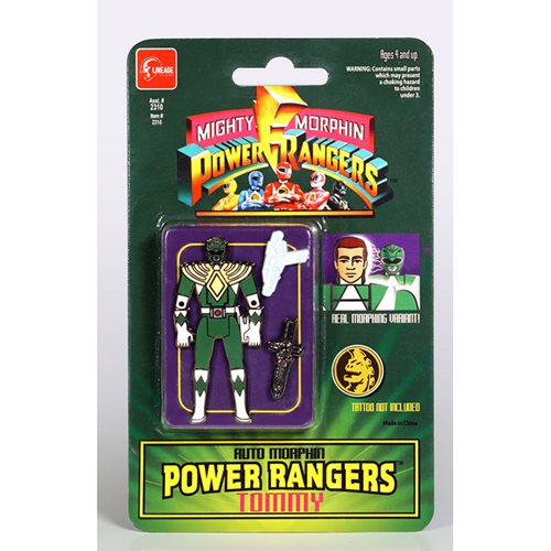 Mighty Morphin Power Rangers Auto Morphin Green Ranger Tommy Pin