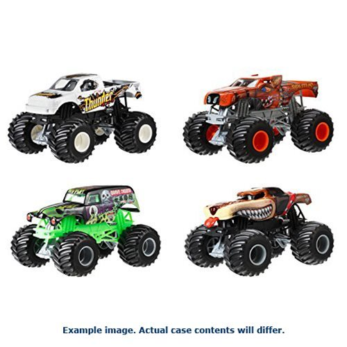 Hot Wheels Monster Jam 1:24 Scale 2017 Wave 4 Case