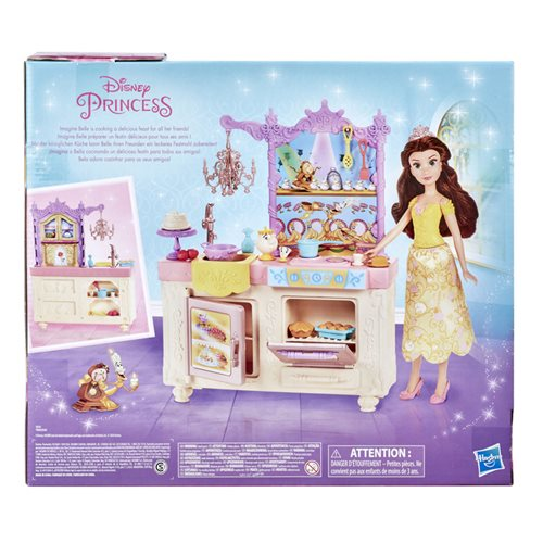 Disney Princess Belle's Royal Kitchen, Fashion Doll and Playset