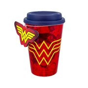 DC Comics Wonder Woman Red 16 oz. Travel Mug