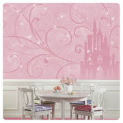 Disney Princess Scroll Castle Full Wall Mural
