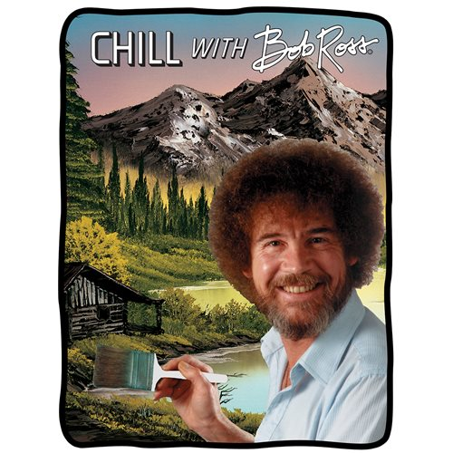 Bob Ross Flannel Fleece