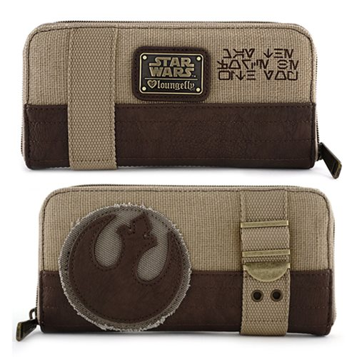Star Wars Rebel Canvas Zip-Around Wallet - Entertainment Earth 7811b7950b12e