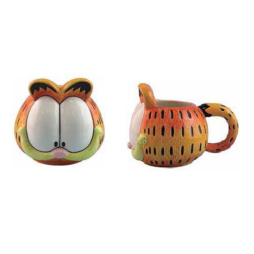 Garfield Head 15 Oz Ceramic Molded Mug Entertainment Earth