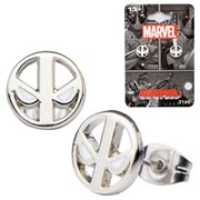 Deadpool Logo Stainless Steel Stud Earrings