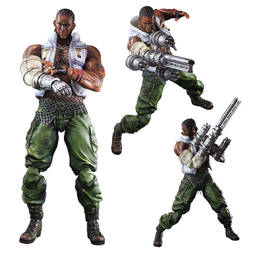 Final Fantasy VII Advent Children Barret Wallace Play Arts Kai Action Figure