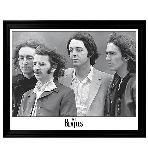 The Beatles Black and White Framed Poster - Entertainment Earth
