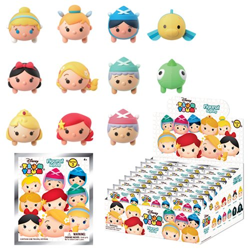 Disney Tsum Tsum Series 3 3-D Figural Key Chain 6-Pack