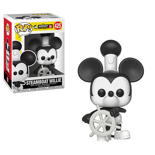 Mickey's 90th Steamboat Willie Pop! Vinyl Figure #425, Not Mint