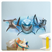Finding Nemo Sharks Peel and Stick Giant Wall Decal