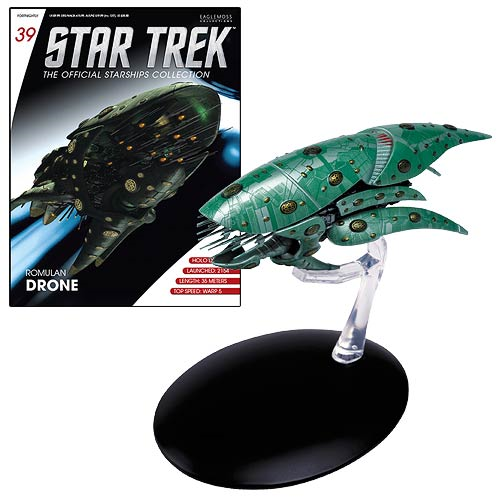 Star Trek Starships Romulan Drone Vehicle with Collector Magazine