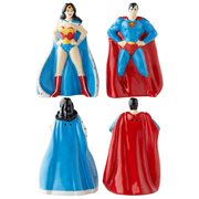 DC Comics Superman and Wonder Woman Salt and Pepper Shaker Set