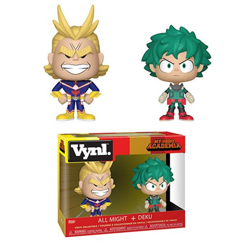 My Hero Academia All Might and Deku VYNL. Figure 2-Pack, Not Mint