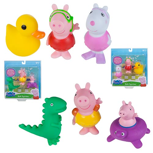 Peppa Pig Bath Squirter 3-Pack Assortment Set