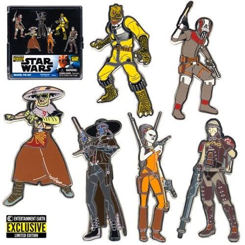 Star Wars Bounty Hunters Enamel Pin 6-Pack - EE Exclusive
