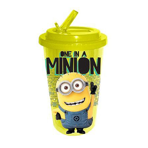 Despicable Me One in a Minion 16 oz. Flip-Straw Travel Cup