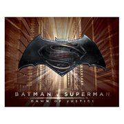 Batman v Superman Logo Sepia Burst Canvas Print